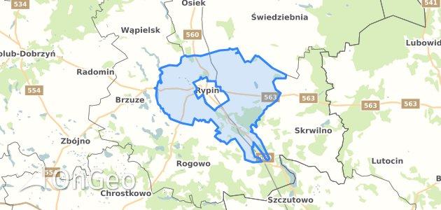Geoportal Rypin Rypinski Dzialki Ewidencyjne Rypin Rypinski