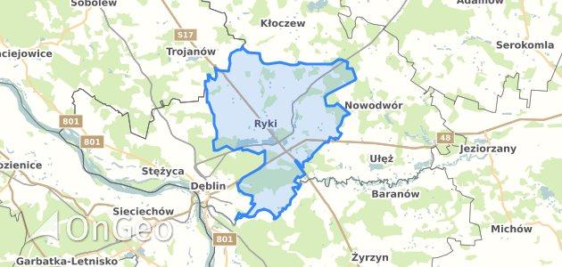 Geoportal Ryki Ryki Dzialki Ewidencyjne Ryki Ryki