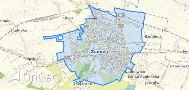 Geoportal Zamosc Dzialki Ewidencyjne Zamosc