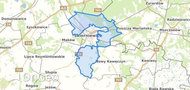 Geoportal Skierniewice Skierniewicki Dzialki Ewidencyjne