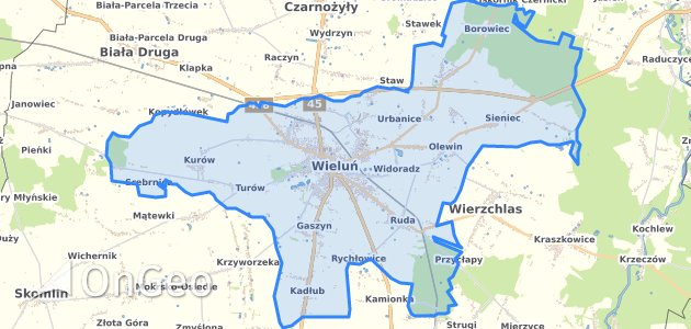Geoportal Wielun Wielun Dzialki Ewidencyjne Wielun Wielun