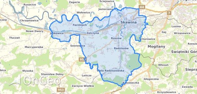 Geoportal Skawina Skawina Dzialki Ewidencyjne Skawina Skawina