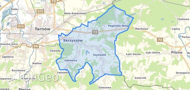 Geoportal Skrzyszow Tarnowski Dzialki Ewidencyjne Skrzyszow
