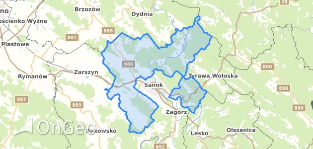 Geoportal Sanok Sanocki Dzialki Ewidencyjne Sanok Sanocki