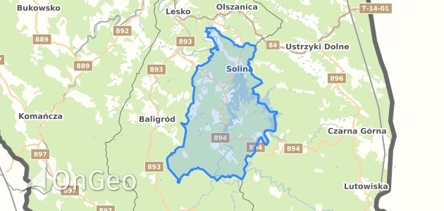 Geoportal Solina Leski Dzialki Ewidencyjne Solina Leski