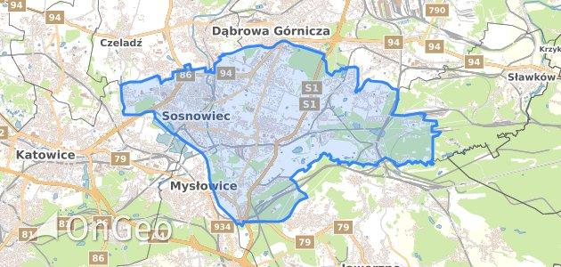Geoportal Sosnowiec Dzialki Ewidencyjne Sosnowiec