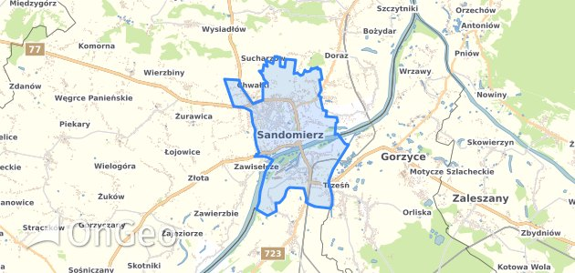 Geoportal Sandomierz Dzialki Ewidencyjne Sandomierz