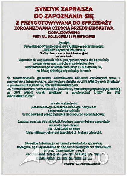 Sprzedam działkę gmina Mietków zdjęcie5